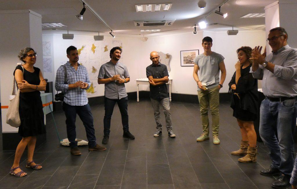 En la inauguración de la exposición, en la Sala Abanca