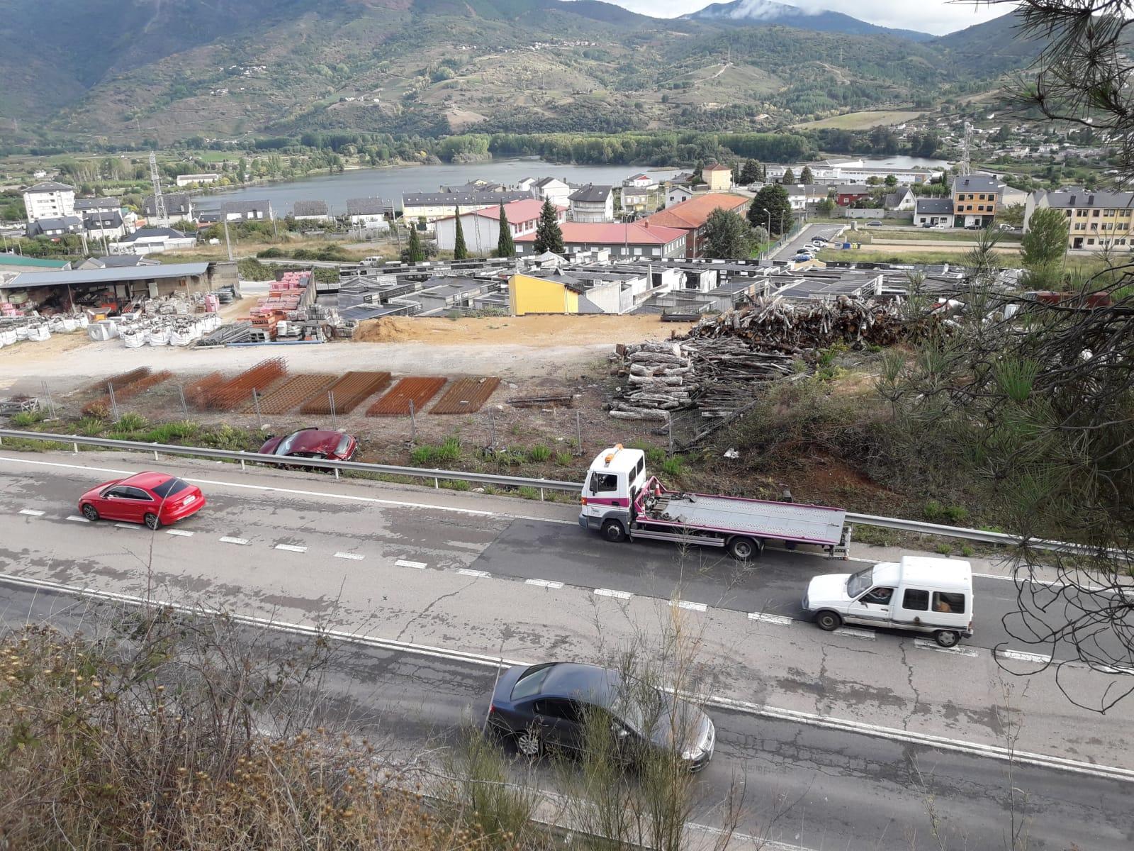 Accidente en la N-120 en A Rúa