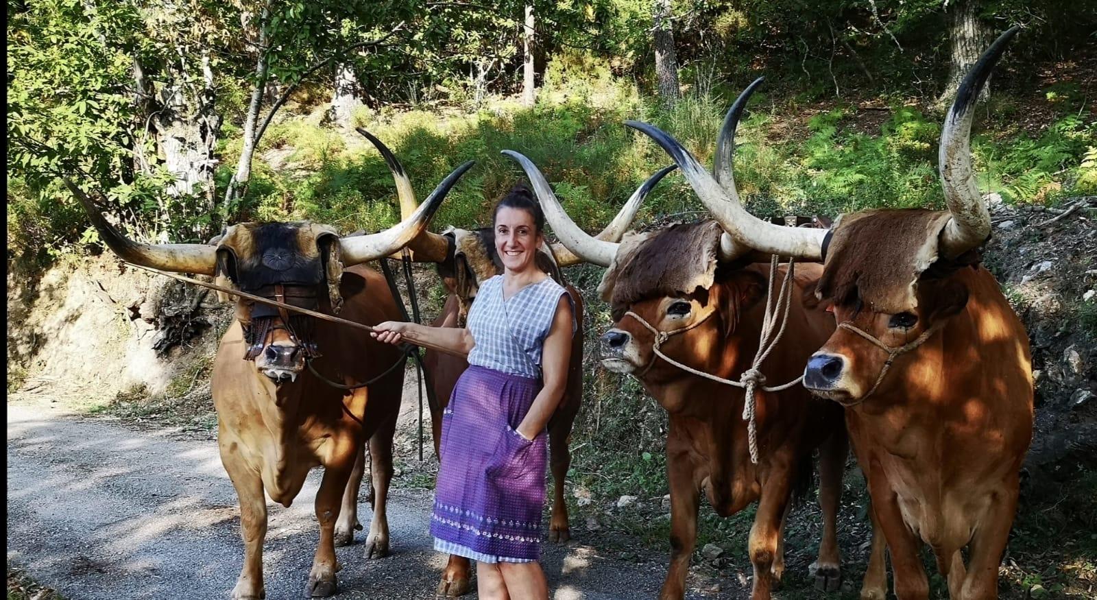 """Cristina Gómez, premio al """"Mejor Manejador de Bueyes"""" 2018"""