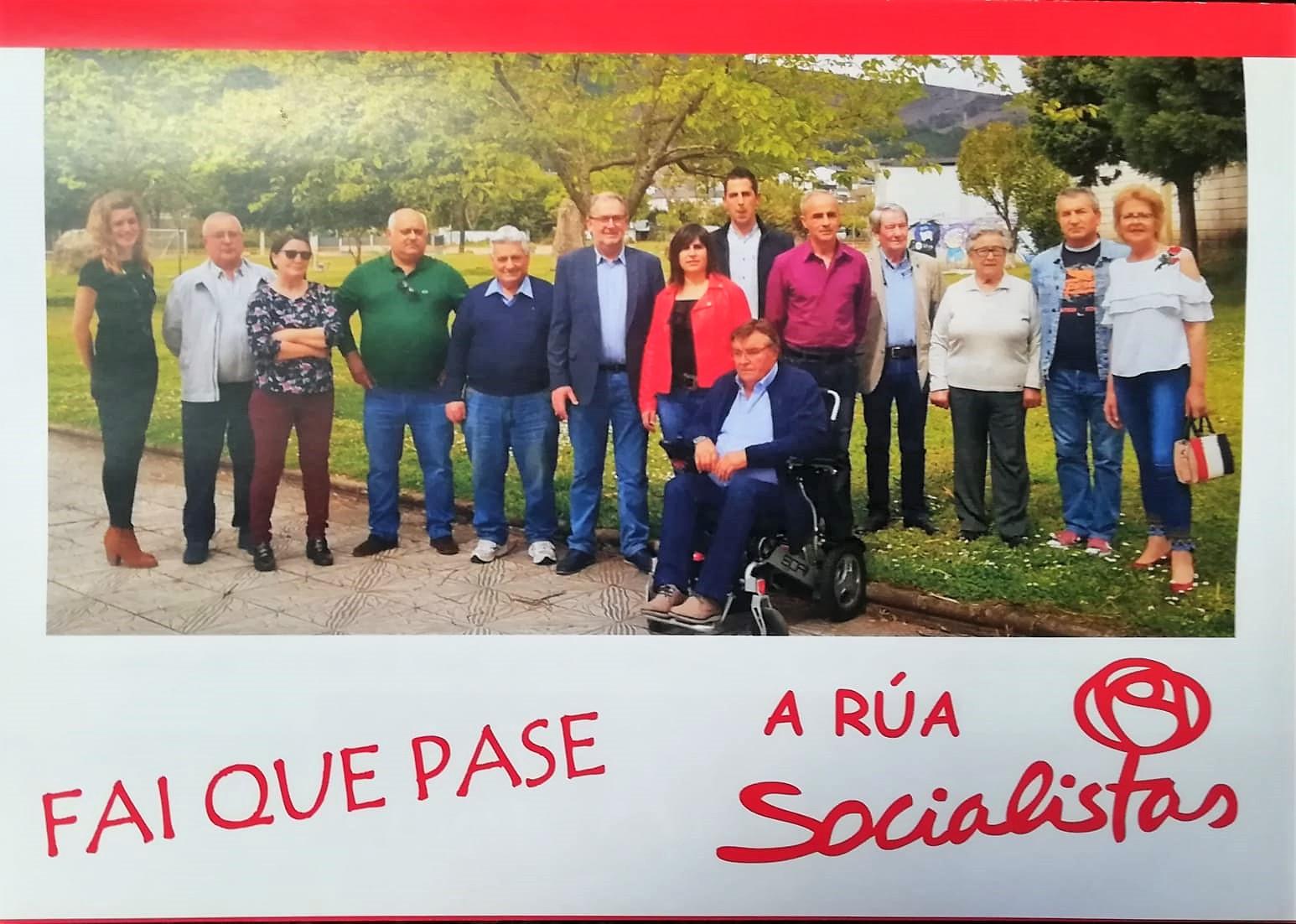 """El PSOE de A Rúa: programa """"de compromisos"""" y mítin para el sábado"""