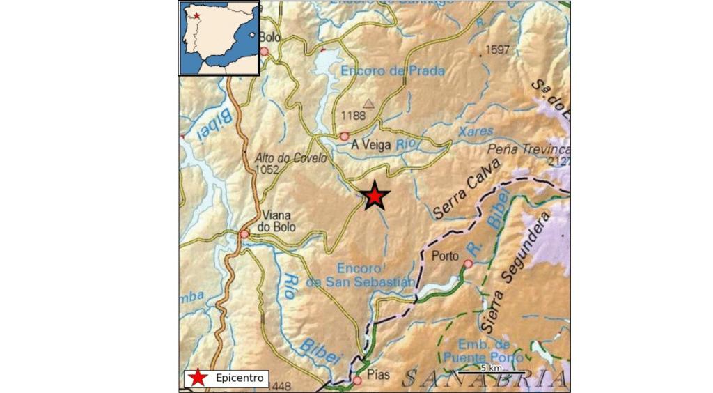 Terremoto en A Veiga de magnitud 2